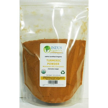 Indus Organics Turmeric (6 % Curcumin) Powder, Refill Bag, 1 Lb, Premium Grade, High Purity, Freshly Packed …