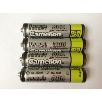 Camelion AAA Rechargeable NiCD Batteries 300mAH 4 Pack + FREE SHIPPING!