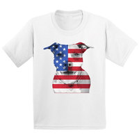 Awkward Styles Youth USA Flag Pitbull Graphic Youth Kids T-shirt Tops American Flag Pitbull Patriotic 4th of July
