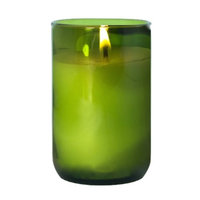 Made With A Mission Wine Bottle Candle Amber/Hazel