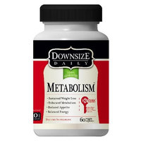Downsize Daily Metabolism-60 Caps-Contains Raspberry Ketones & African Mango, Helps Boost Weight Loss, Balance Energy, Lose Weight Fast, Appetite Suppressant