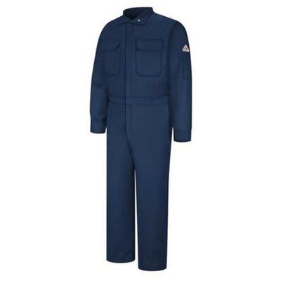 BULWARK Flame-Resistant Coverall,Navy,52 CLB6NV RG 52