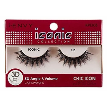 Kiss I Envy Iconic Collection Lashes #03 3D Angle & Volume (Chic) (3 Pack)