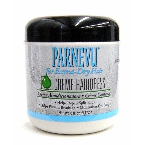 Parnevu Crème Hairdress (Extra-dry hair) 6 oz, Helps repair split ends, prevents breakage, dry scalp, moisturizer