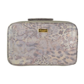 PurseN Amour Travel Case - Leopard/Brown
