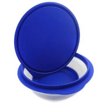 Alfie Pet by Petoga Couture - Ian Pet Expandable/Collapsible Travel Bowl with Lid - Size: 2.5 Cups, Color: Blue
