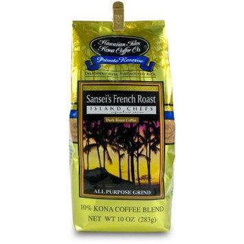 Hawaiian Isles Kona Coffee Sansei's French Roast Medium Roast Ground Coffee - 10oz