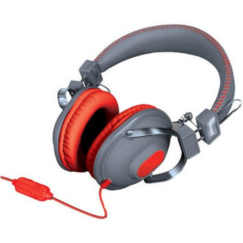 Isound Dghm-5518 Hm260 Dynamic Stereo Headphones With Microphone [gray/red]
