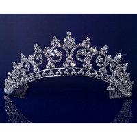 SparklyCrystal Rhinestones Crystal Wedding Bridal Pageant Princess Tiara Crown 3150