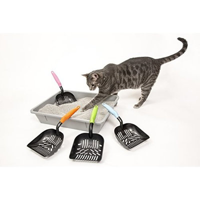 Cat Litter Scoop – Perfect Designed Sifter Spacing for Efficient and Most Effective Kitty Litter Box Cleaning – Deep Shovel Sifter – Teflon Coated Easy to Clean – Solid Core Aluminum Handle