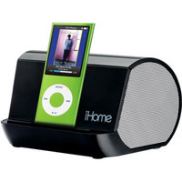 iHome Portable MP3 Speaker System, Black (Fits iPod and Other MP3 Players)