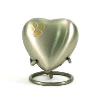Oneworld Memorials Pewter Paw Pet Heart Keepsake