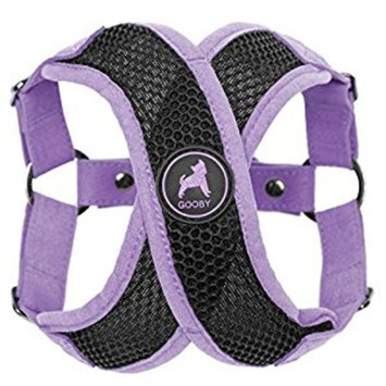 Gooby Choke Free Active X Step-in Synthetic Lambskin Soft Harness for Small Dogs []