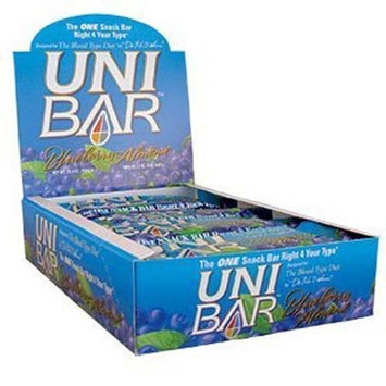 D'Adamo Personalized Nutrition Uni Bar Blueberry Almond, 12 Count