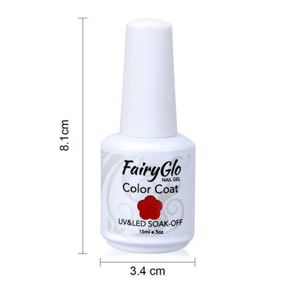 FairyGlo 4 Color Well-Picked Gelpolish Nail Polish UV LED Soak Off Gel Manicure Beauty Varnish Fashion Nail Art Kit Gift Set Base Top 15ml 113