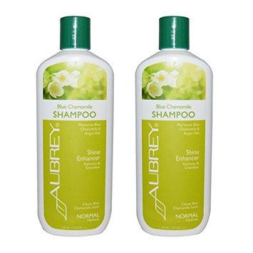 Aubrey Organics Blue Chamomile Shampoo Shine Enhancer With Moroccan Blue Chamomile and Argan Oils, Normal, 11 fl oz (325 ml) (Pack of 2)