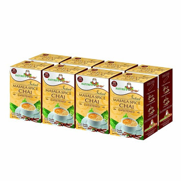 Nature's Guru Instant Masala Spice Chai Tea Drink Mix, Sweetened, 10 Count Single Serve On-the-Go Drink Packets (Pack of 8)