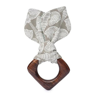 Finn + Emma Baby Teething Ear, 100% Organic, Eco-Friendly, and Fair Trade, Perfect for Newborns or Toddlers, Elephant