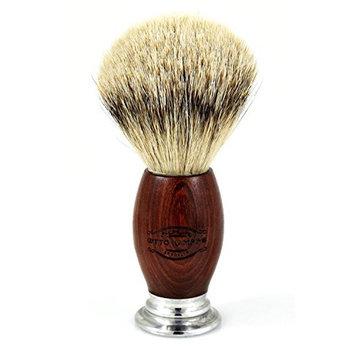 Otto Kampfe Silvertip Badger Shaving Brush with Mahogany Wood Handle