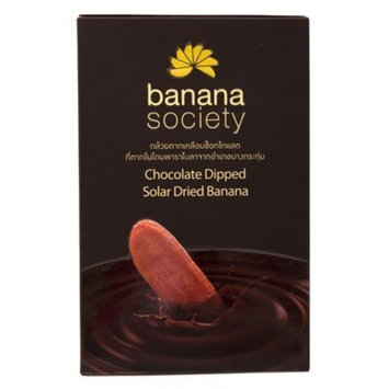Banana Society Chocolate Dipped Dried Banana 8.93oz. by Banana Society