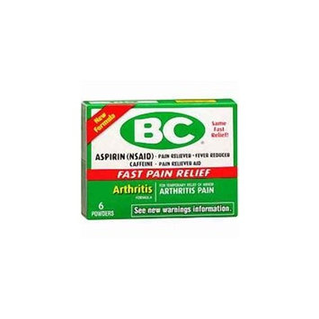 BC Arthritis Pain Relief - 6 Powder Packets