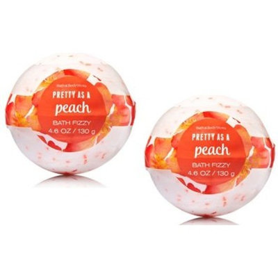 Bath and Body Works 2 Pack Pretty as a Peach Bath Fizzy 4.6 Oz.
