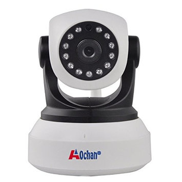 A0CHAN HD 960P WiFi IP Security Camera Wireless Indoor Night Vision P2P Onvif Multi-stream Network CCTV Baby Monitor For Mobile Phone Remote Monitoring Two Audio Support maximum of 64G TF Card(white)