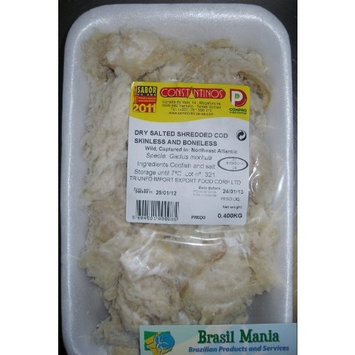 Sea Star Seafoods Bacalhau Bacalao Dry Salted Shredded Cod, No Bone No Skin