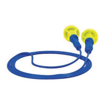 3M Multiple Use E-A-R Push-Ins Mushroom Shaped E-A-Rform Foam Corded Earplugs (1 Pair Per Poly Bag, 500 Pair Per Box)
