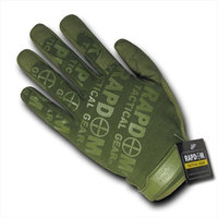 RapDom T24-PL-OLV-01 Lightweight Mechanic Glove - Olive Drab, Small
