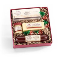 Hickory Farms 4-Piece Farmhouse Sausage & Cheese Sampler Holiday Gift Pack
