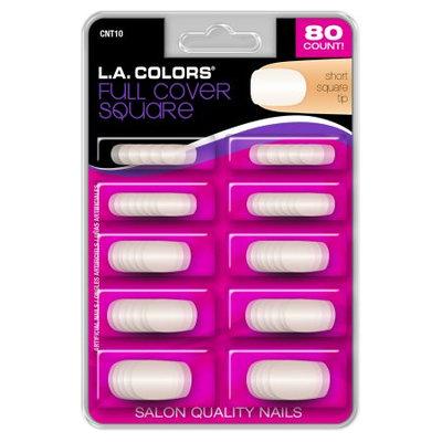 LA Colors Nail Tips, Full Cover Square, 80 Ct