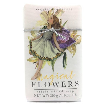 Asquith & Somerset Magical Flowers Lily Triple Milled Soap Bar 10.58 Oz