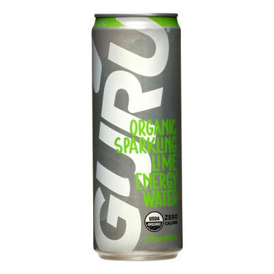 Guru Organic Sparkling Lime Energy Water, 12 Fl Oz (Case of 12)