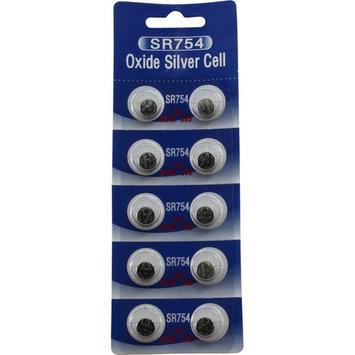 10 POWERTRON SILVER OXIDE BATTERIES 393 309 SR754 LR754 SR48 LR48 AG5 193 V393 D393 RW28 S15 55 MAH
