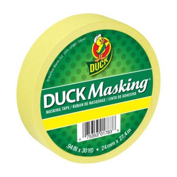 Duck Masking Color Masking Tape - Yellow, .94 in. x 30 yd.