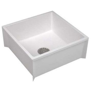 MUSTEE Mop Sink,White,36 In L 65M