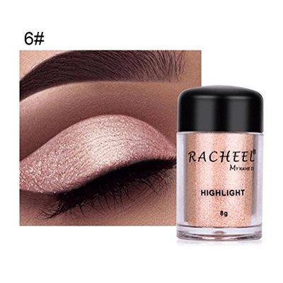 Alonea Shimmer Eyeshadow, Women Eye shadow Color Makeup Glitter Eyeshadow Powder Cosmetics 6 Colors 6#