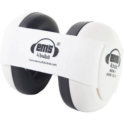 Em's 4 Kids Em's 4 Bubs Hearing and Noise Protection Baby Earmuffs - White