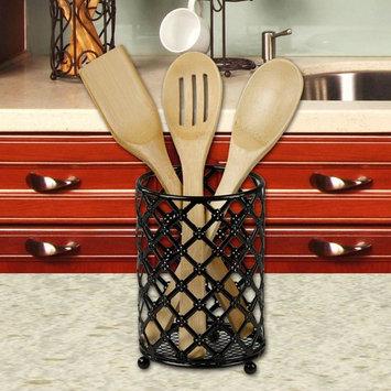 Black Lattice Cutlery Holder