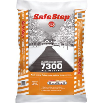 Compass Minerals Safe Step 7300 Calcium Chloride Ice Melt Flakes