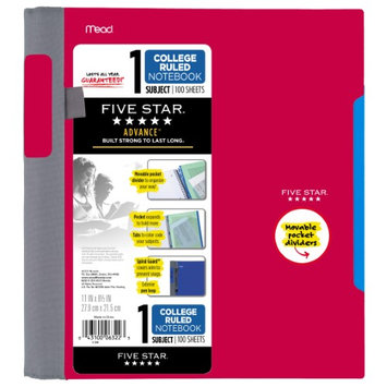 Five Star® Advance® Wirebound College Ruled Notebook - 1 Subject (06322) - Five Star Notebooks