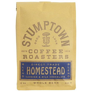 Stumptown Coffee Roasters Whole Bean Coffee, Homestead Blend, 12 Ounce. Direct Trade Medium Roast, Milk Chocolate, Cherry and Orange notes, Perfect for Drip, Espresso or French Press Brewing [Homestead]