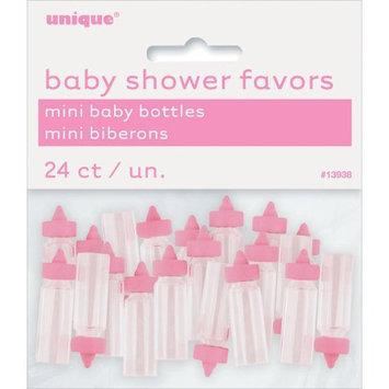 Unique Industries Plastic Mini Baby Bottles 24/Pkg-Pink