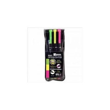 G T Luscombe 127249 Highlighter Zebrite Carded Pack - 3