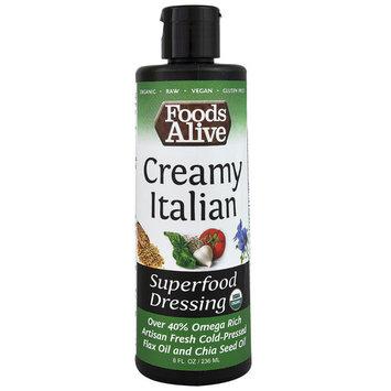 Foods Alive Organic Superfood Dressing Creamy Italian -- 8 fl oz