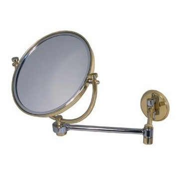 Allied Brass WM-5/4X-PB 8-Inch Mirror with 4x Magnification Extends 7-Inch, Polished Brass