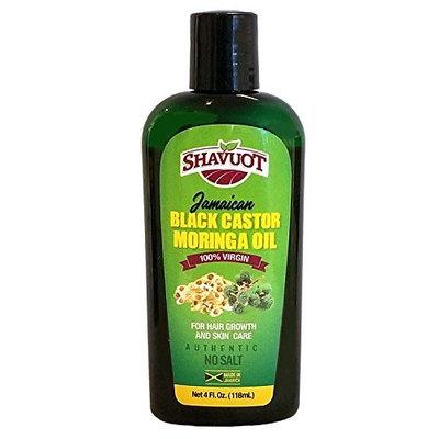 Shavuot 100% Virgin Jamaican Black Castor MORINGA Oil 4oz