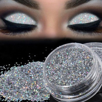 Sparkly Loose Powder EyeShadow, Keepfit Fashion Cosmetics Makeup Glitter Gold and Silver Eye Shadow Pigment for Women
