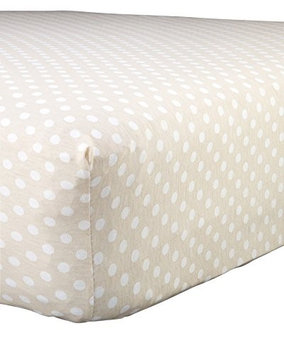 Abstract Baby Polka Dot Print Extra Deep Fitted Jersey Crib Sheet (28' x 52', Blue)